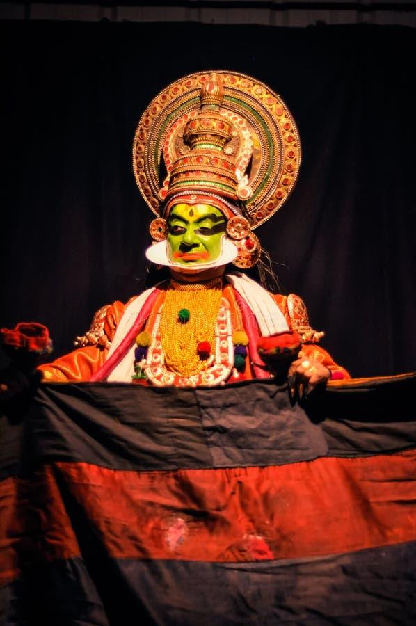 Kathakali στο Κεράλα στοκ εικόνα