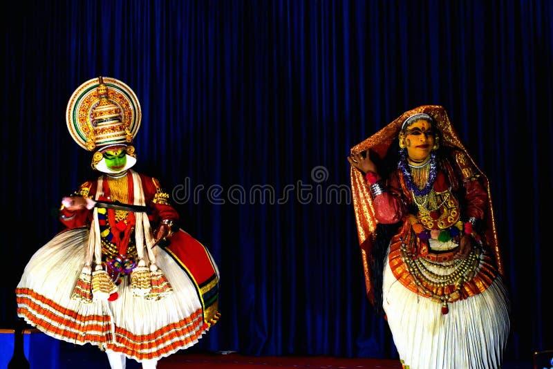 Kathakali Кералы стоковое изображение rf