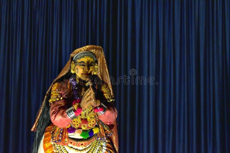 Kathakali 3 Кералы стоковое фото