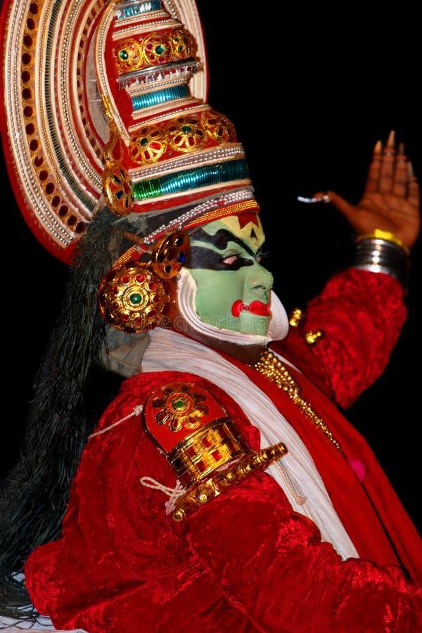 kathakali танцора стоковые изображения