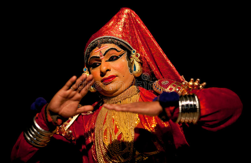 Kathakali actor royalty free stock photo