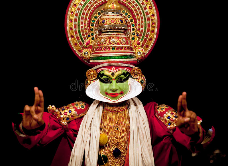 Kathakali actor stock photo