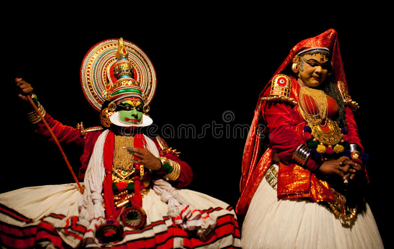 Kathakali actors royalty free stock photography