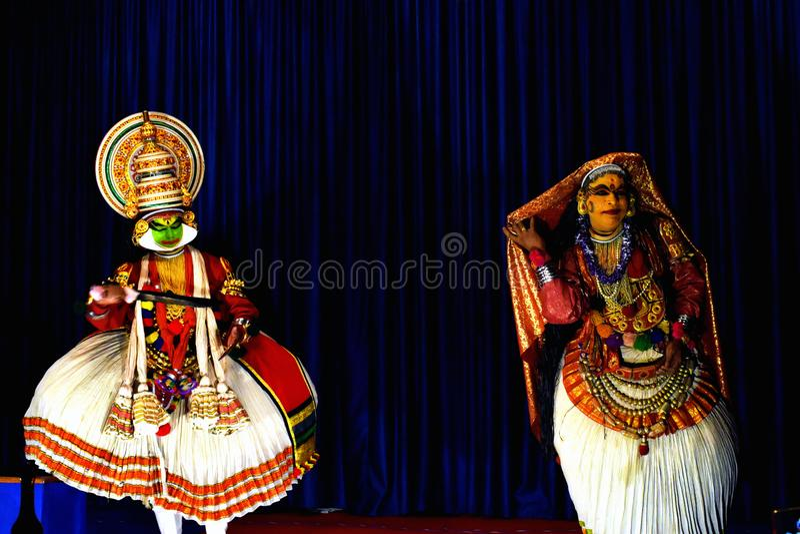 Kathakali de Kerala imagem de stock royalty free