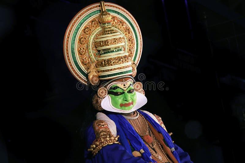 Kathakali jest jeden ważne formy klasyczny Indiański taniec fotografia royalty free