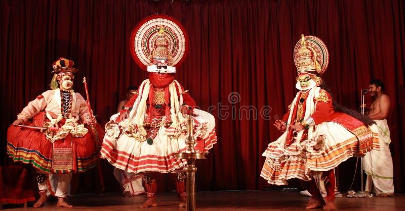 KATHAKALI-KERALA传统舞蹈 图库摄影