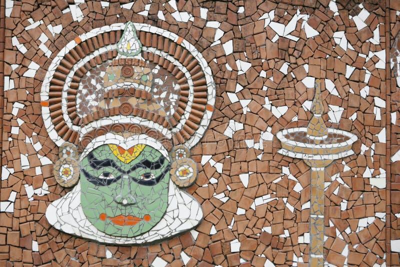 Kathakali mural royalty free stock photography