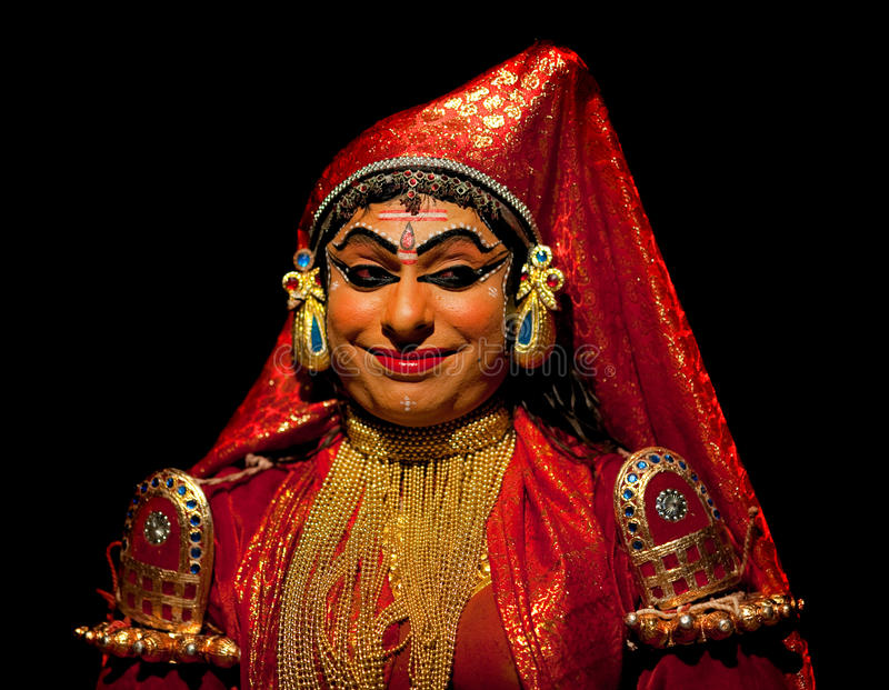 Kathakali performer stock photography