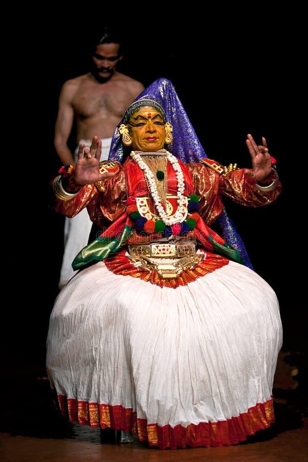 Kathakali theatre fotografia royalty free