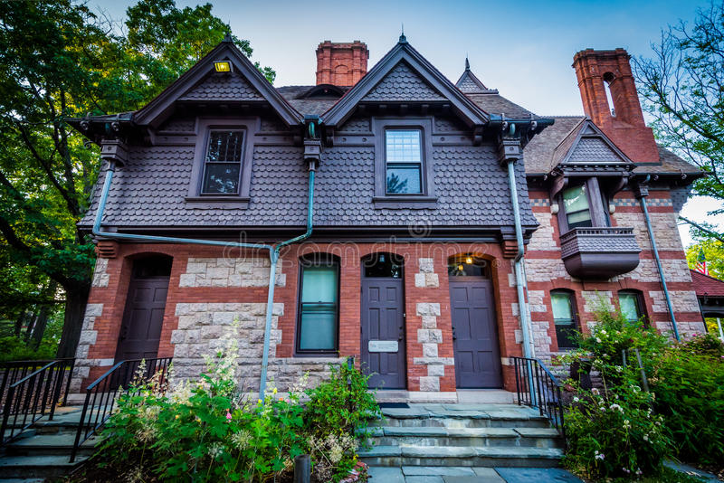 Katharine Seymour dnia dom w Hartford, Connecticut obraz stock