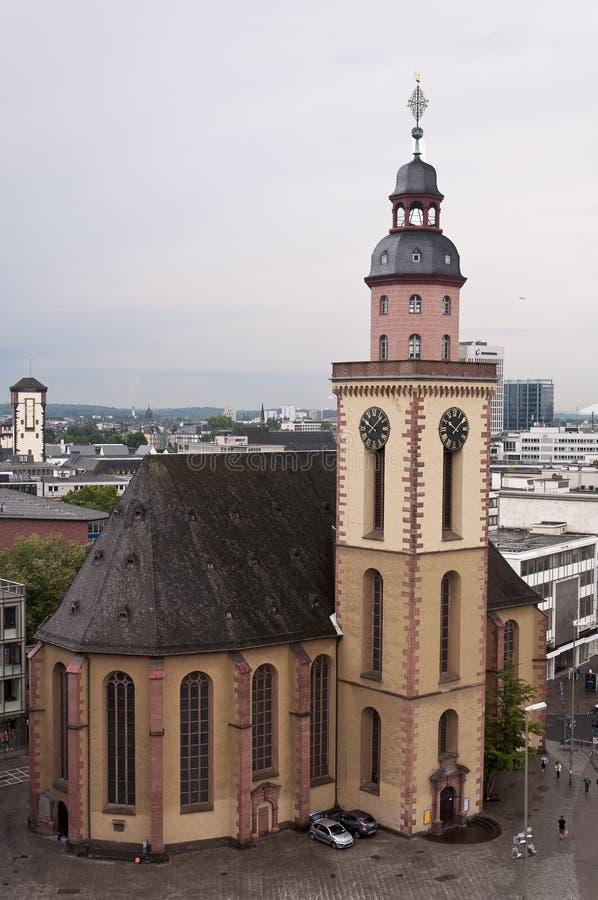 Katharinenkirche на площади Hauptwache в Франкфурте стоковое изображение rf