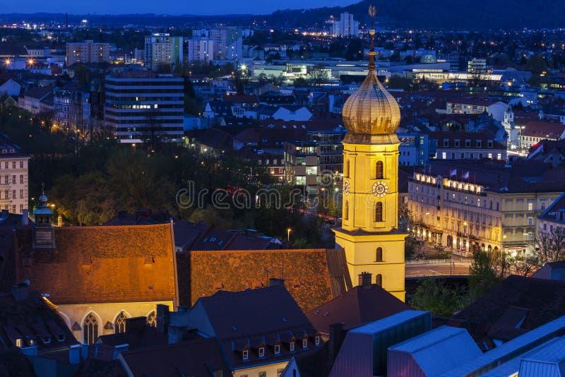 Katharinenkirche in Graz stock foto's
