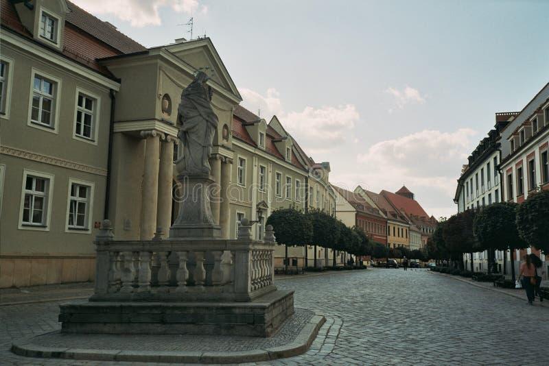 Kathedealna街道波兰弗罗茨瓦夫 免版税图库摄影