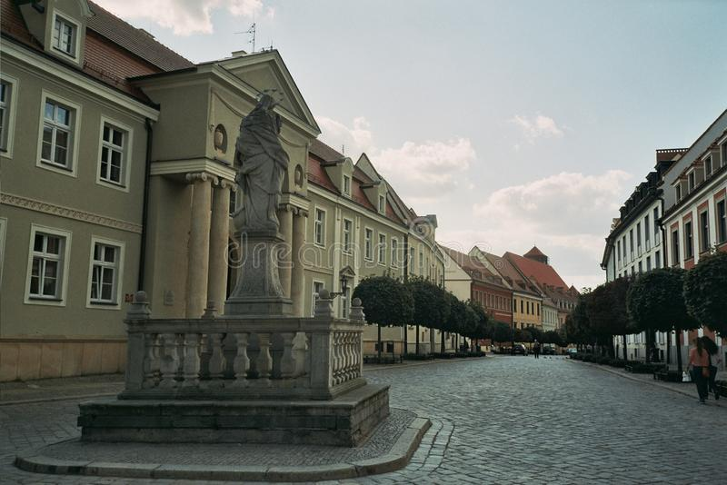Kathedealna street poland wroclaw royalty free stock photography