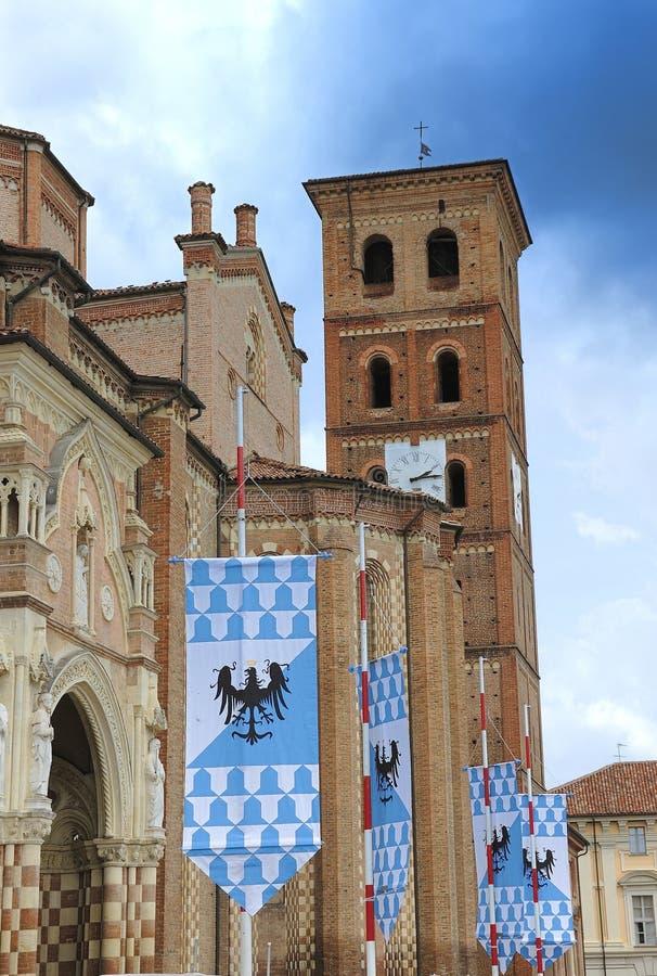 Kathedraal, Asti, Italië stock afbeeldingen