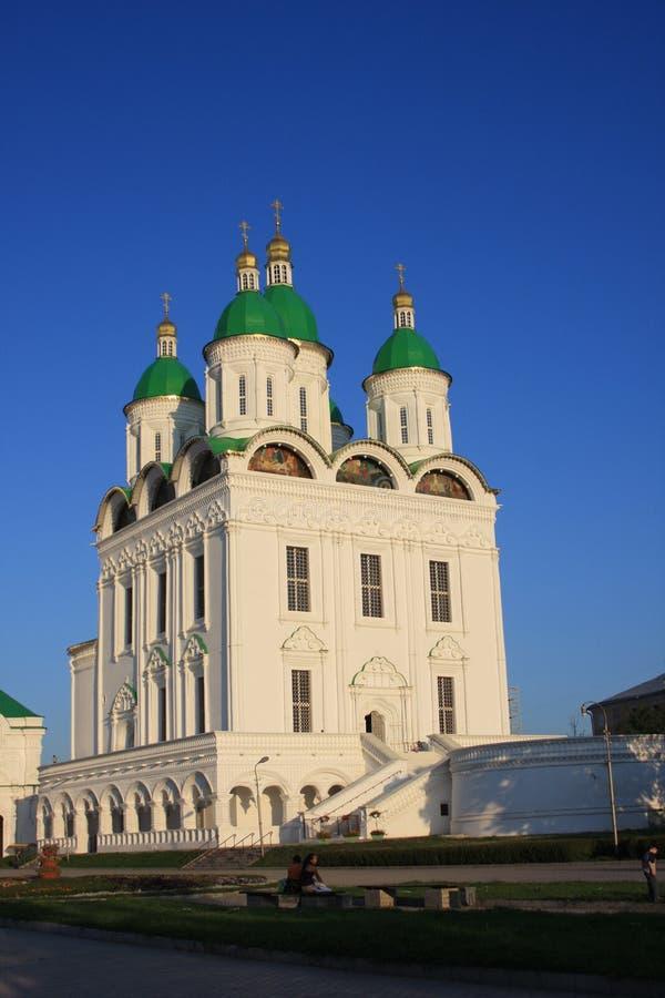 Kathedraal in Astrakan het Kremlin royalty-vrije stock fotografie