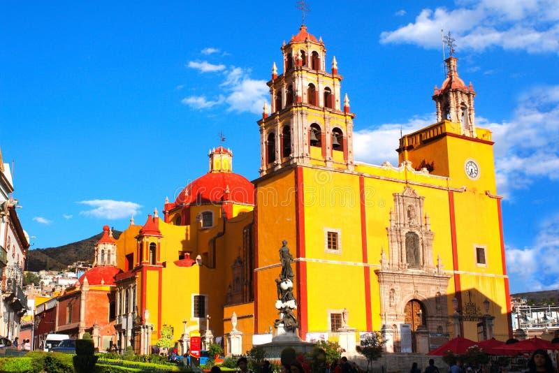 Kathedraal Basilica Colegiata DE Nuestra Senora de Guanajuato, Gu royalty-vrije stock afbeelding