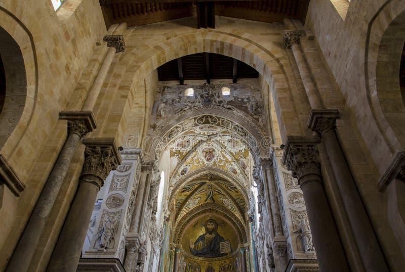 Kathedraal-basiliek van Cefalu, Sicilië royalty-vrije stock afbeelding