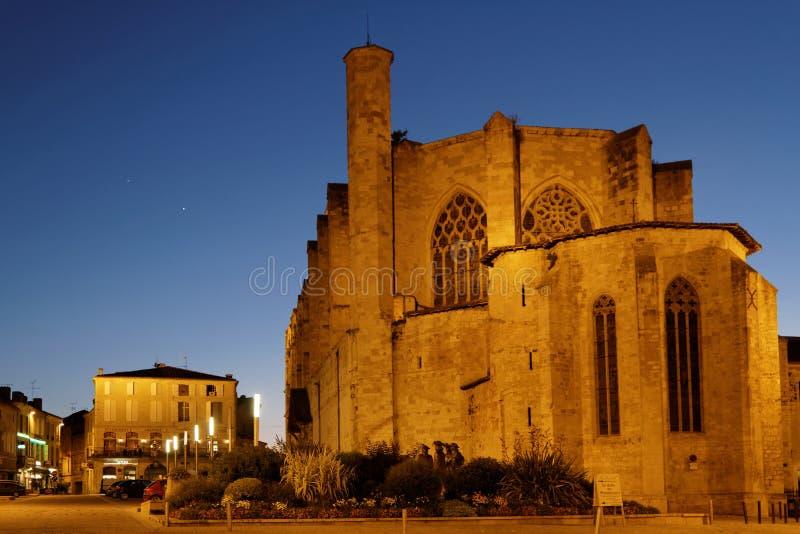 Kathedraal bij het blauwe uur stock fotografie