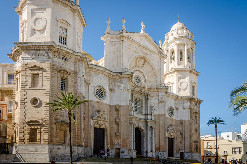 Kathedraal Cadiz stock afbeelding