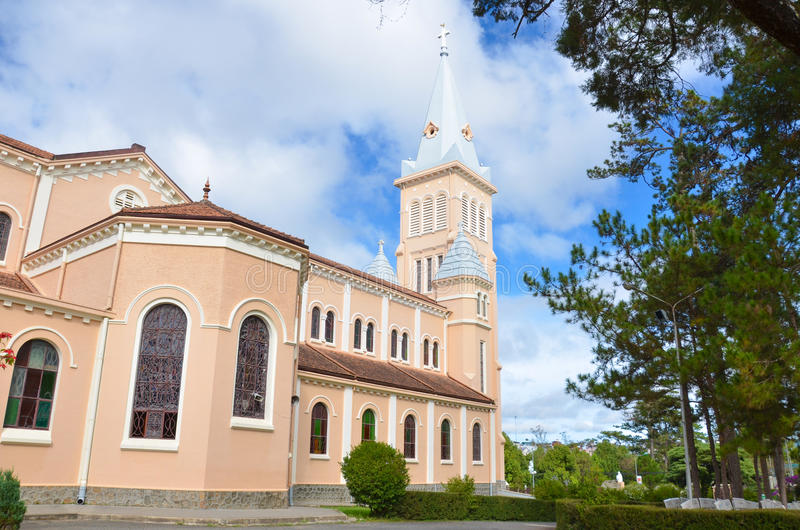 Kathedraal in Dalat stock afbeeldingen