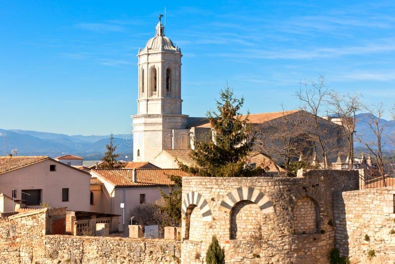 Kathedraal DE Girona royalty-vrije stock afbeeldingen