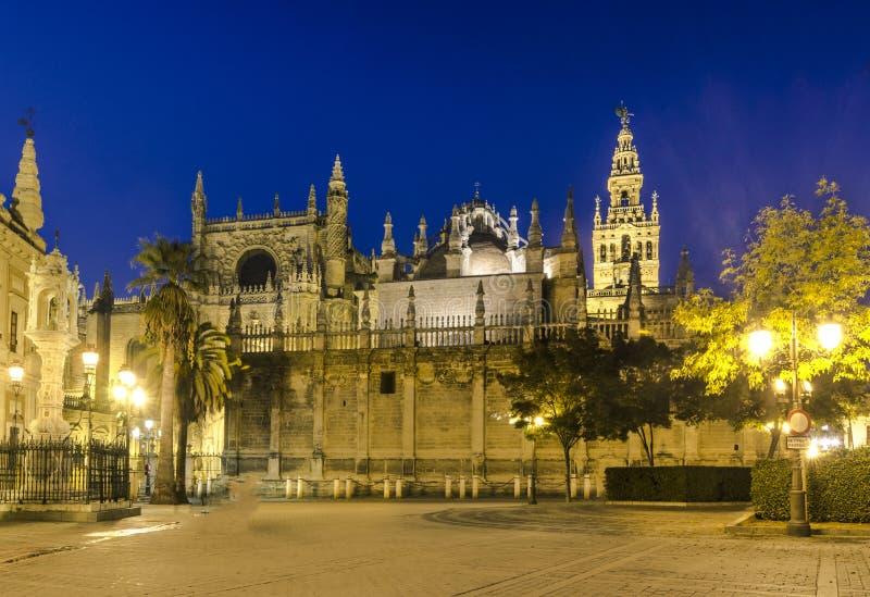 Kathedraal DE Santa Maria de la Sede, Sevilla, Andalusia, Spanje royalty-vrije stock foto