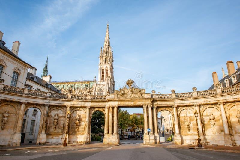 Kathedraal in de stad van Nancy, Frankrijk royalty-vrije stock afbeelding
