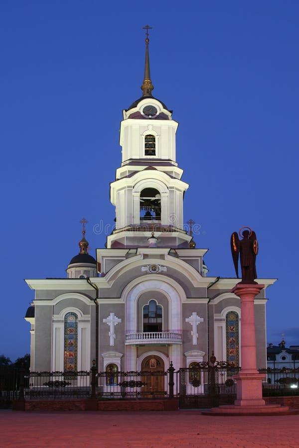 Kathedraal in Donetsk/de Oekraïne royalty-vrije stock afbeelding