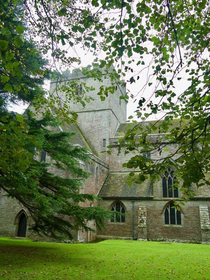 Kathedraal door de bomen royalty-vrije stock fotografie