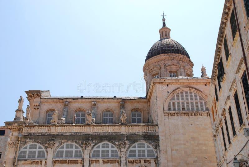 Kathedraal in Dubrovnik royalty-vrije stock foto's