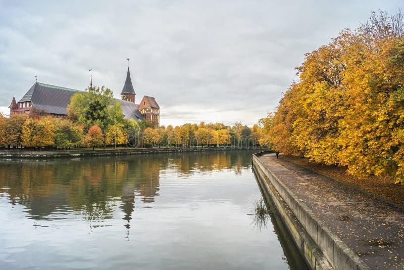 Kathedraal - een symbool van Kaliningrad, historisch en cultureel m royalty-vrije stock foto