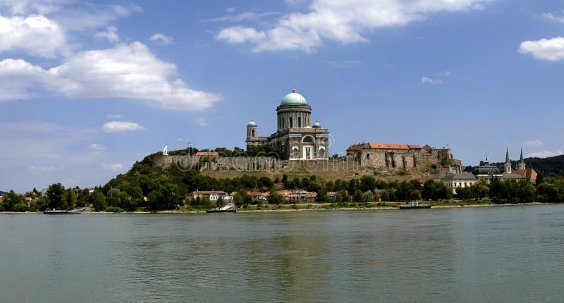 Kathedraal Esztergom in Hongarije royalty-vrije stock afbeelding