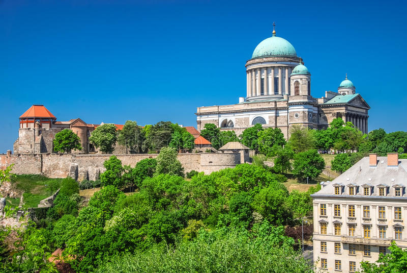Kathedraal in Esztergom, Hongarije royalty-vrije stock foto