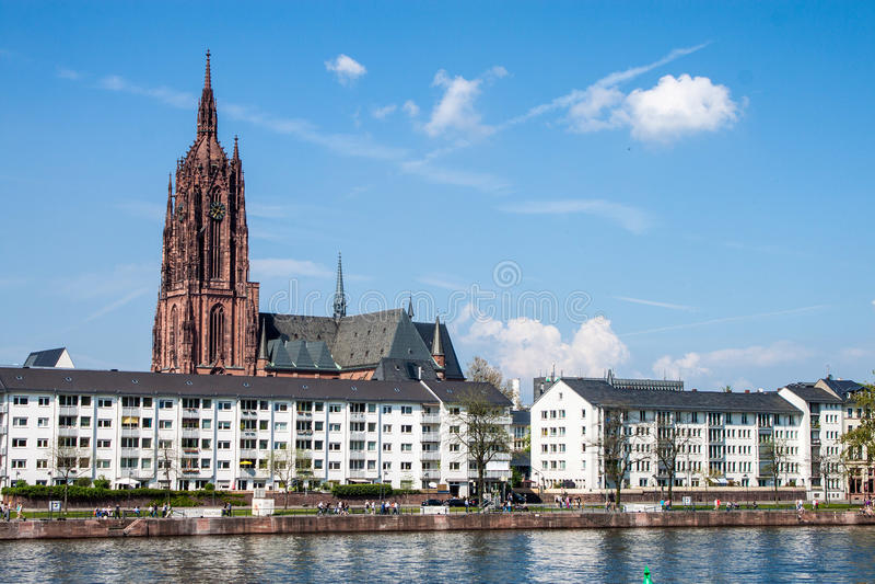Kathedraal in Frankfurt stock fotografie