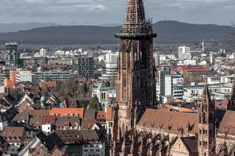 Kathedraal Freiburg Muenster in Duitsland royalty-vrije stock afbeelding