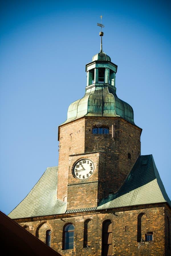 Kathedraal in Gorzow Wielkopolski stock afbeeldingen