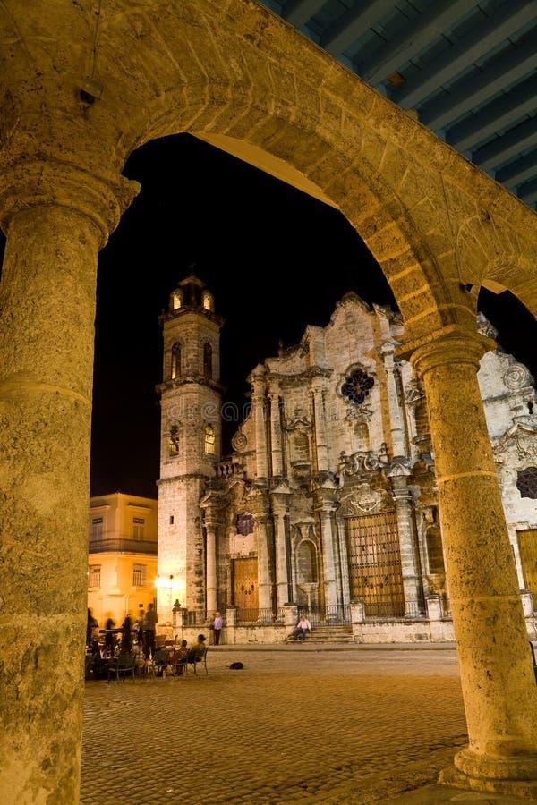 Kathedraal, Havana, Cuba stock foto