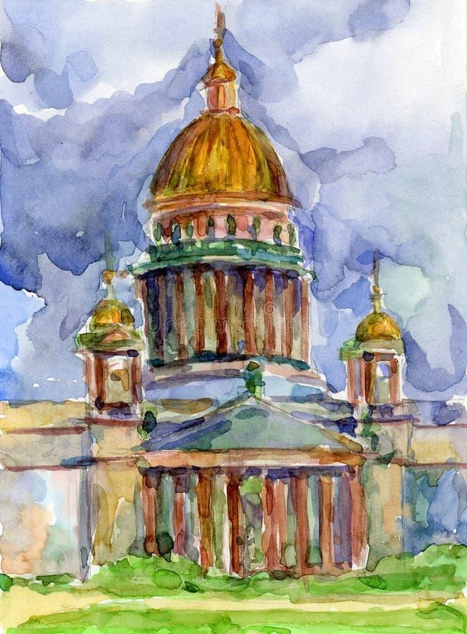 Kathedraal In Heilige Petersburg Stock Foto's
