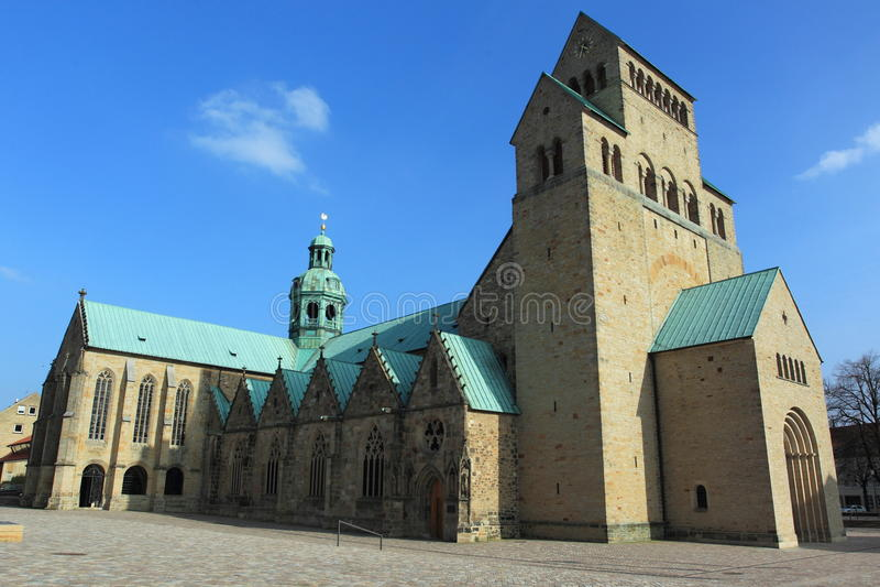 Kathedraal in Hildesheim stock foto's