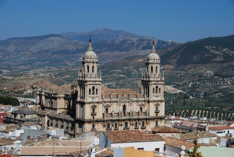 Kathedraal, Jaen, Spanje. royalty-vrije stock afbeelding
