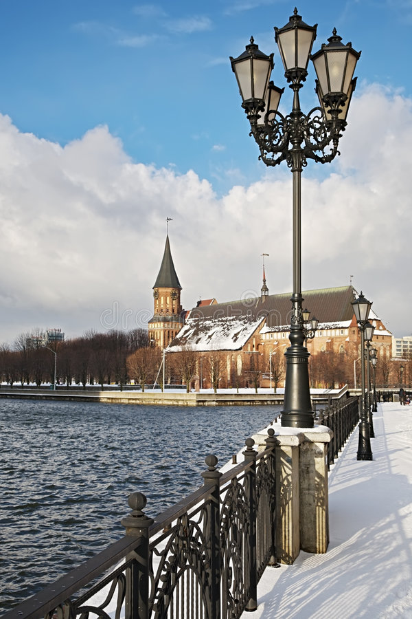 Kathedraal in Kaliningrad royalty-vrije stock afbeelding