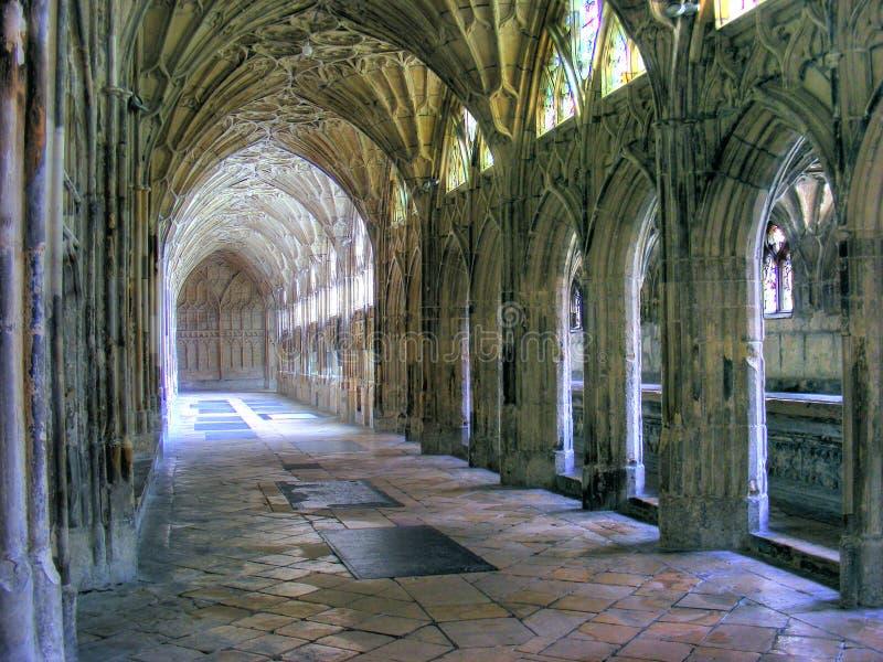 Kathedraal-Kloosters 01 van Gloucester stock fotografie