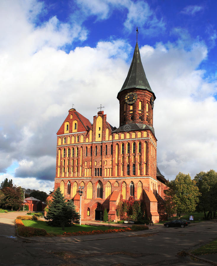 Kathedraal in Konigsberg royalty-vrije stock foto