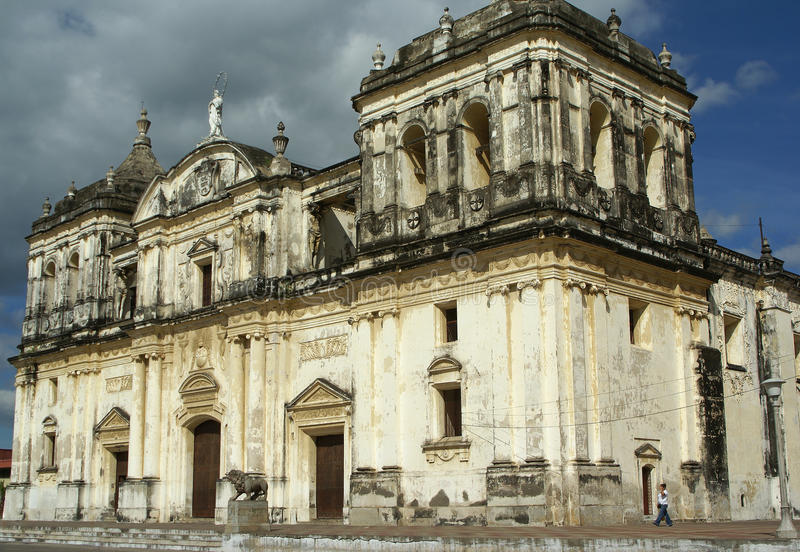 Kathedraal, Leon, Nicaragua royalty-vrije stock fotografie
