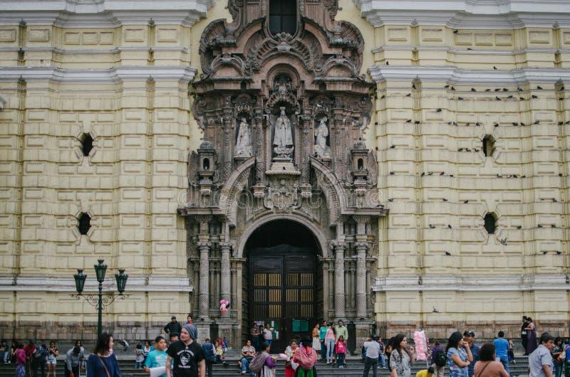 Kathedraal in Lima stock fotografie