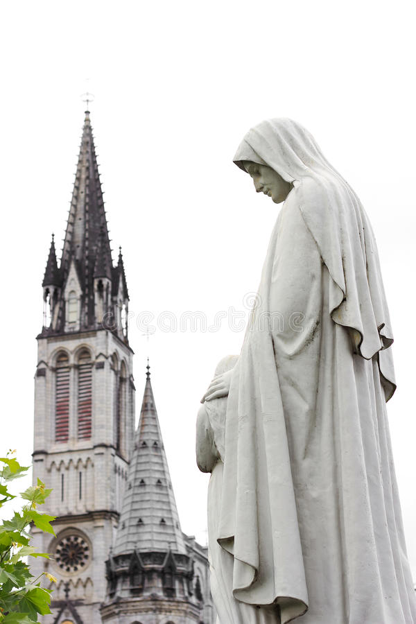 Kathedraal in Lourdes royalty-vrije stock foto's