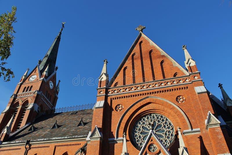 Kathedraal in Luleå stock foto