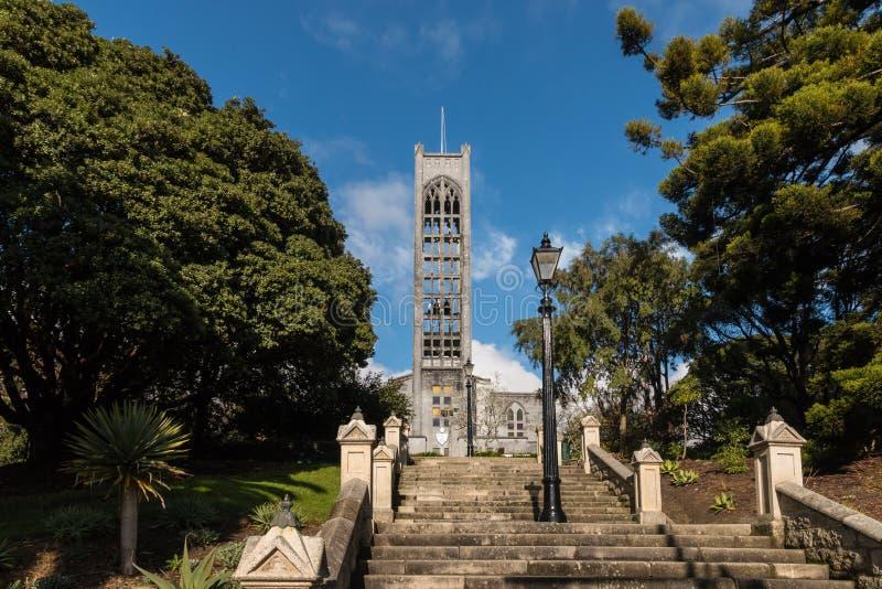 Kathedraal met trap in Nelson, Nieuw Zeeland stock afbeeldingen