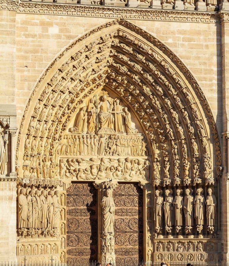 Kathedraal Notre Dame de Paris royalty-vrije stock foto